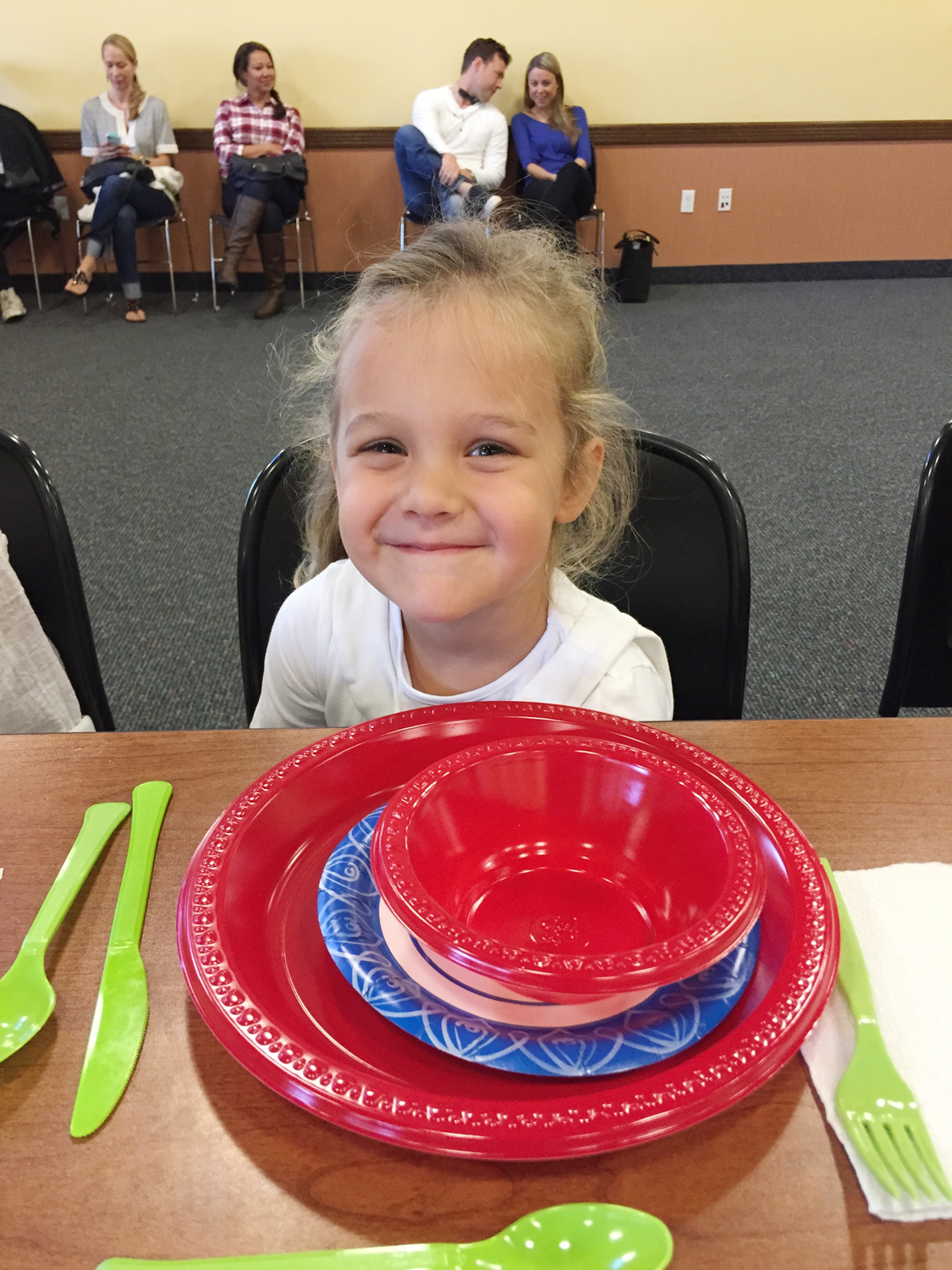 Piper (4) The table Setting Dynamo! Our youngest student ever!